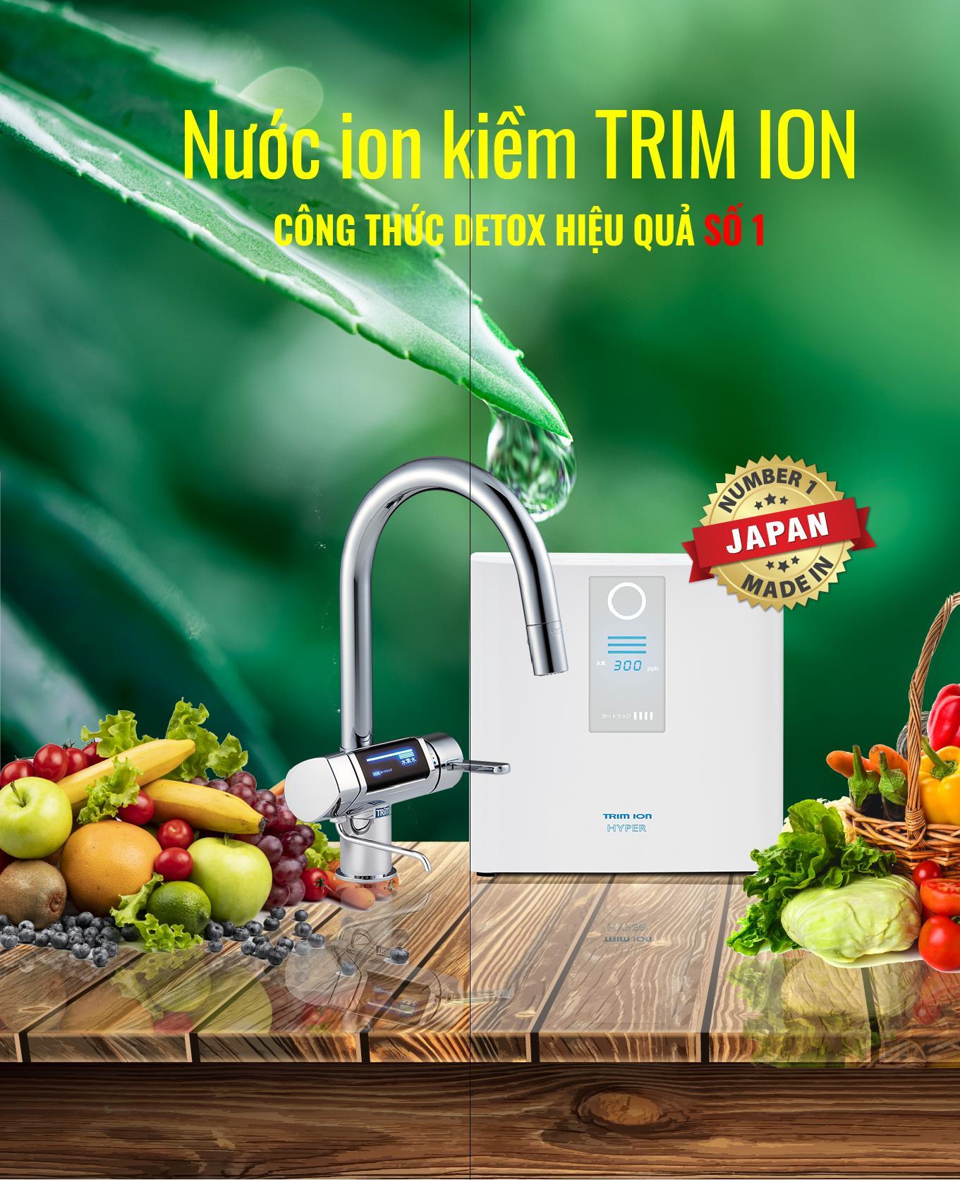 máy lọc nước ion kiềm trim ion